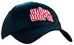 black hat with red Anise Worm® logo on front